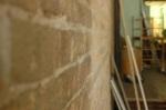 sandblasted masonry