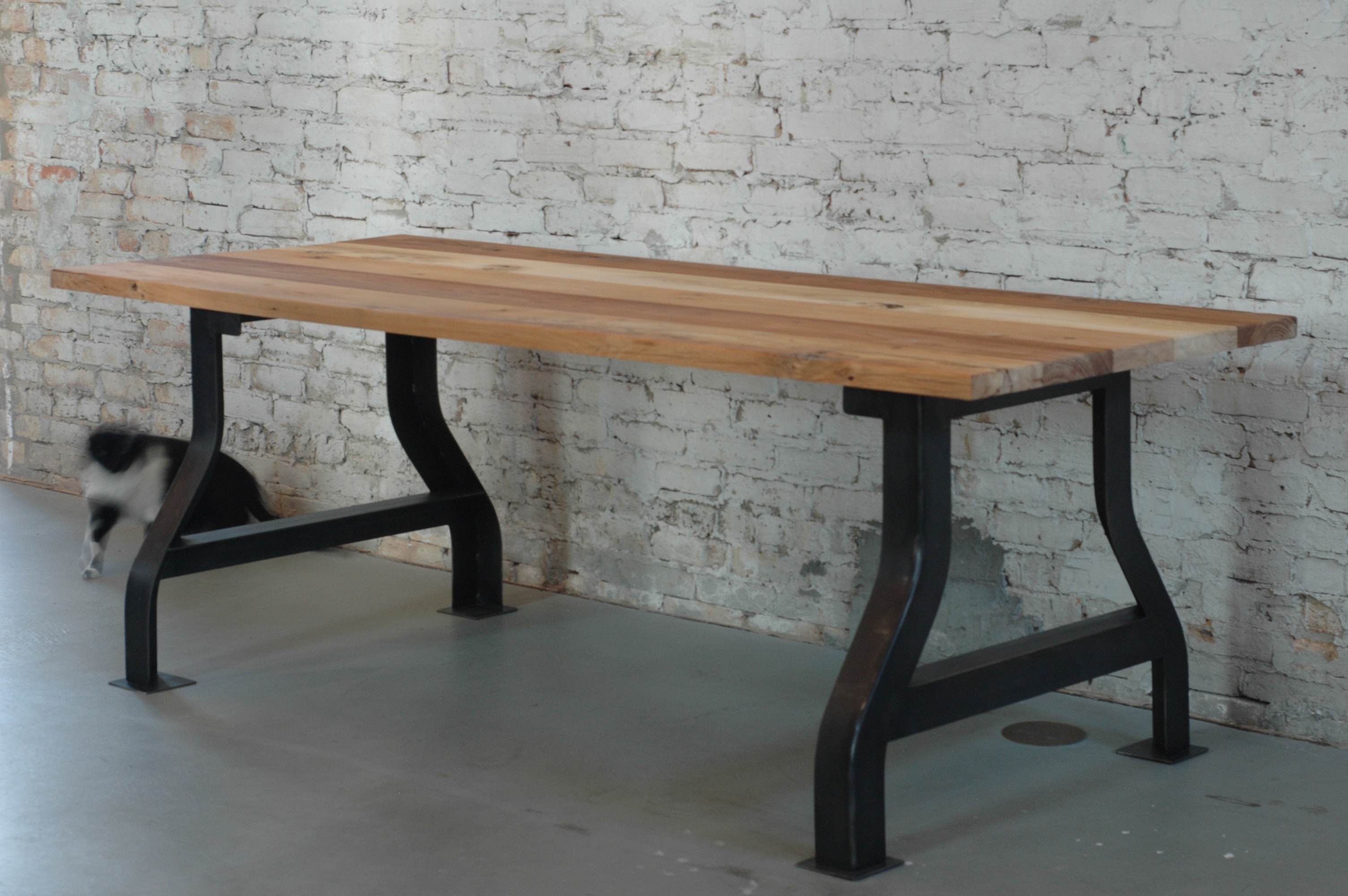 Reclaimed Elm Conference Table 100 Mile Table Moss Design