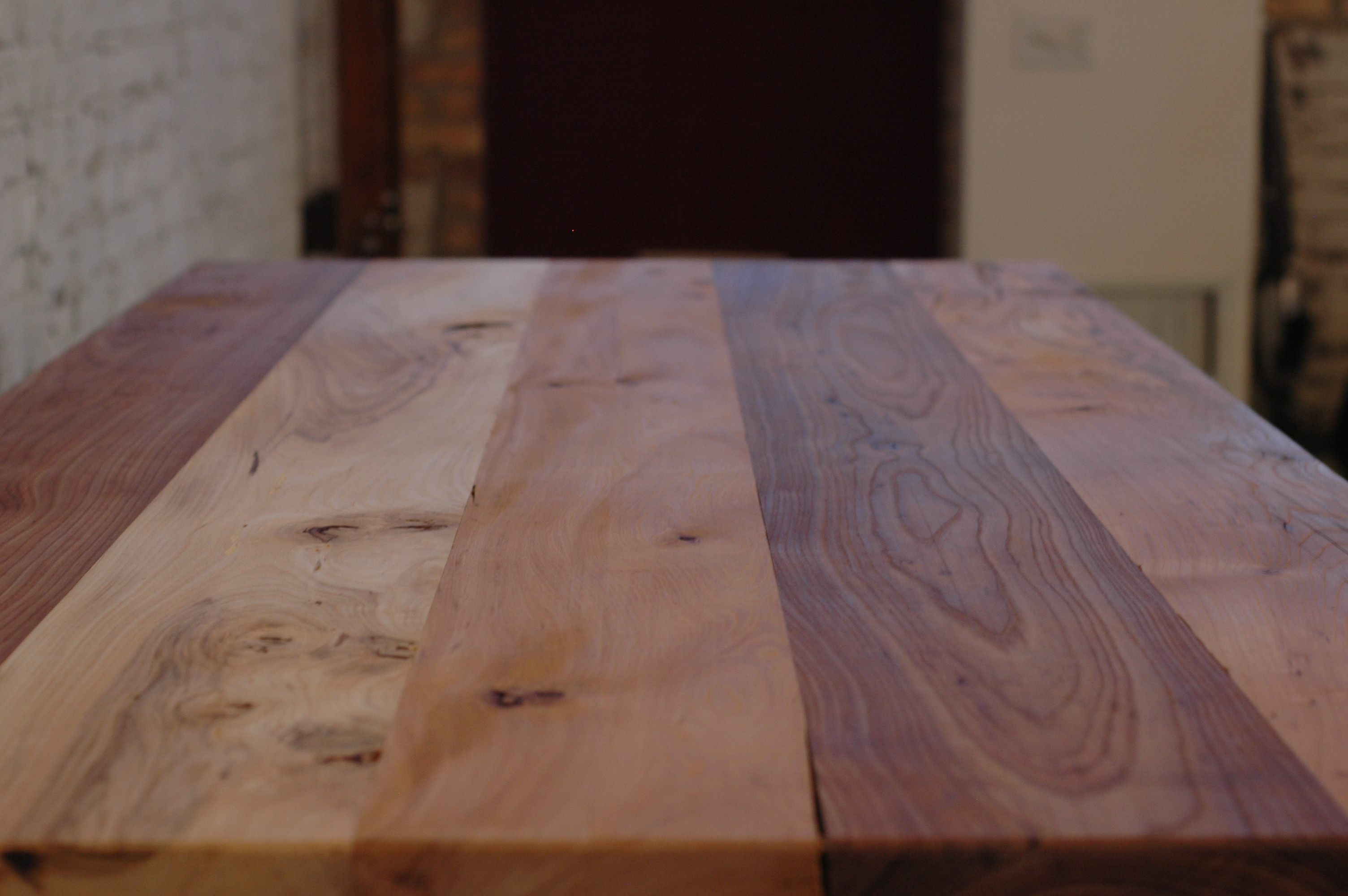Reclaimed elm conference table 100 mile table moss design for 100 mile table