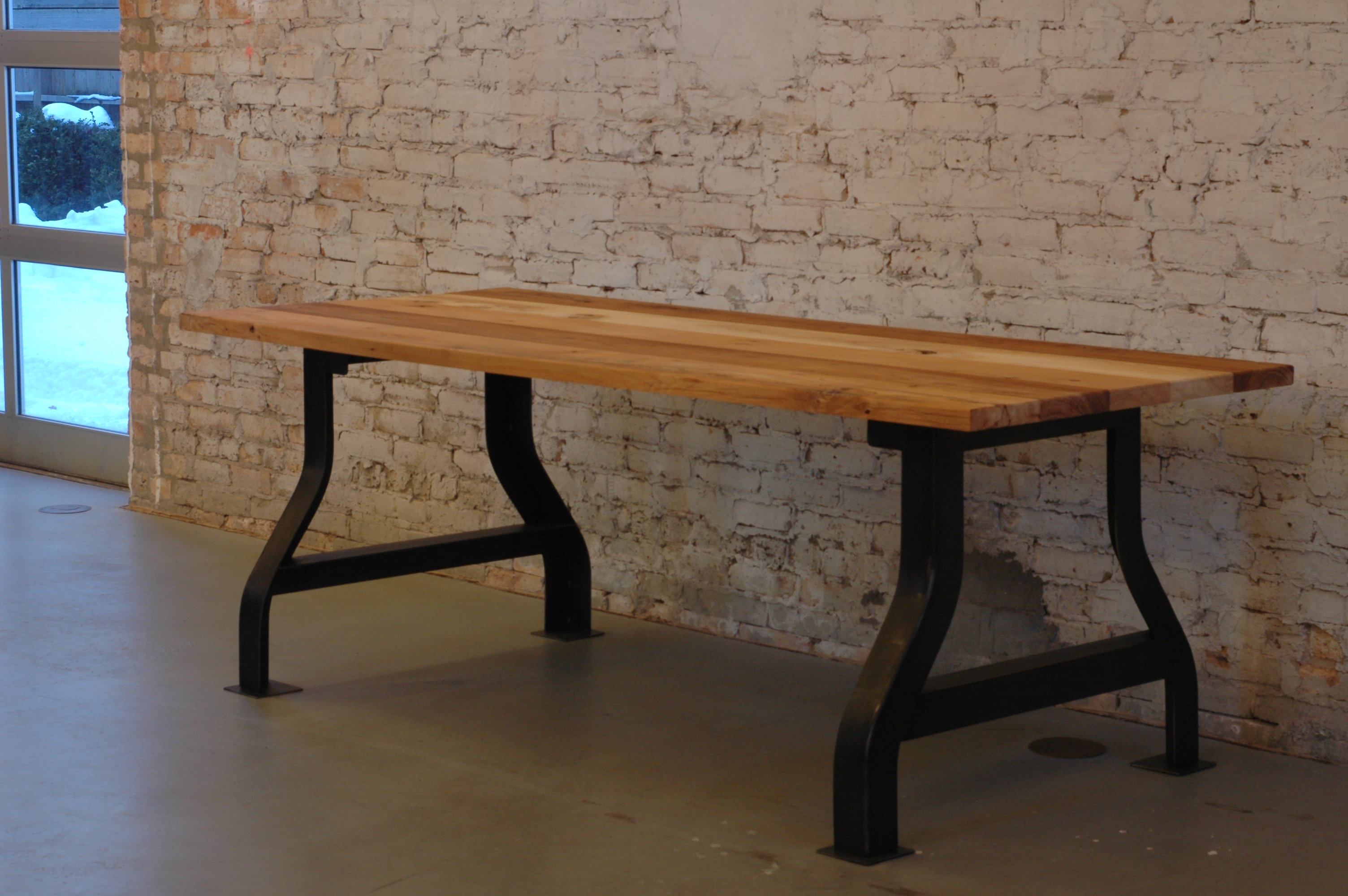 100 mile table strawville Reclaimed wood furniture portland oregon